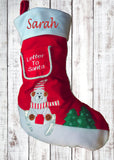 Personalised Christmas Snowman Stocking
