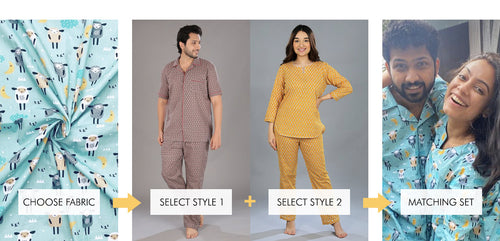 How to Order Matching Night Suits. Get yours today!