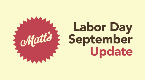 September / Labor Update Letter from Matt (Hackberry Owner)