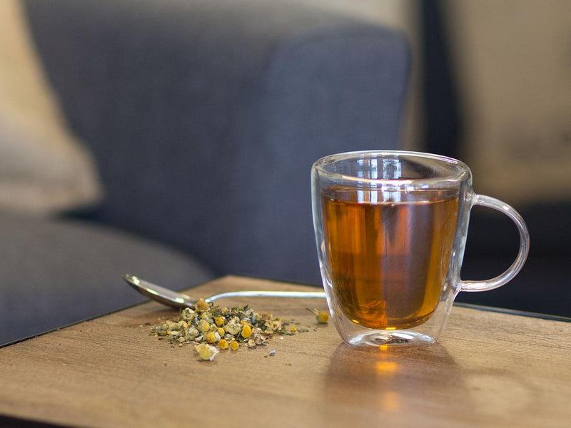 Image of Relaxing Mint Camomile Tea Brewed as Hot Tea from Hackberry Tea