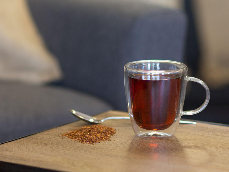 Image of Organic Citrus Rooibos Tea Brewed as Hot Tea from Hackberry Tea