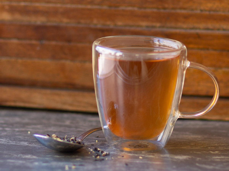 Image of Warm Vanilla Chai Tea Brewed as Hot Tea from Hackberry Tea