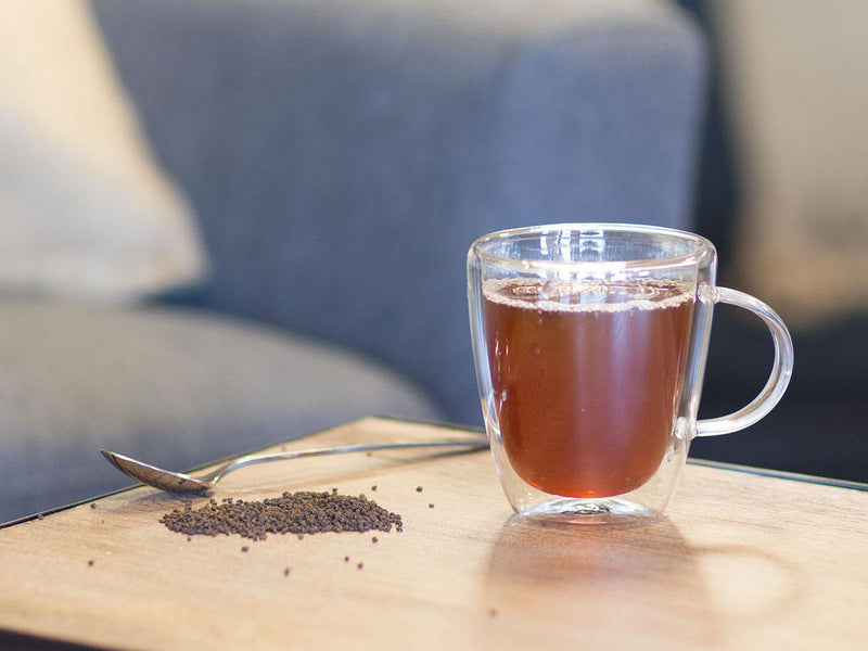 Image of Assam Crush Tea Brewed as Hot Tea from Hackberry Tea