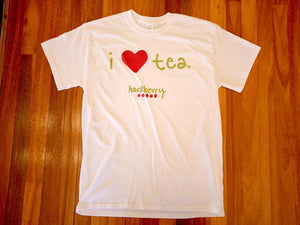 I Love Tea Hackberry Tee Shirt (White)
