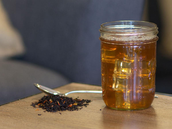 Image of Prickly Pear Black Tea Brewed as Iced Tea from Hackberry Tea