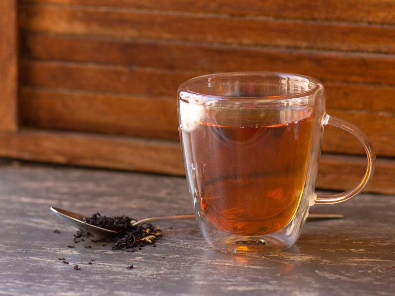 Image of Mango Black Tea Brewed as Hot Tea from Hackberry Tea