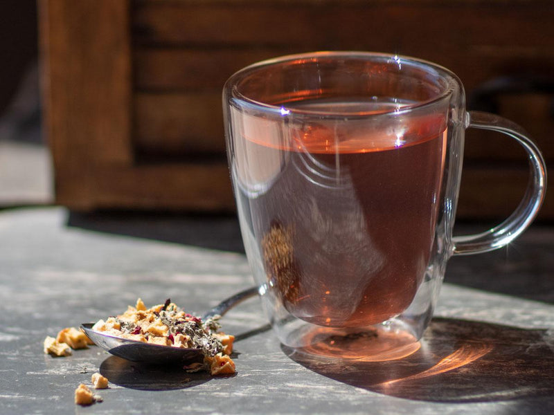 Image of Watermelon Refresher Tea Brewed as Hot Tea from Hackberry Tea