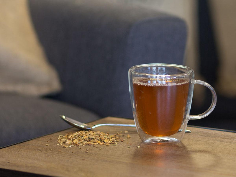 Image of Vanilla Cinnamon Spice Tea Brewed as Hot Tea from Hackberry Tea