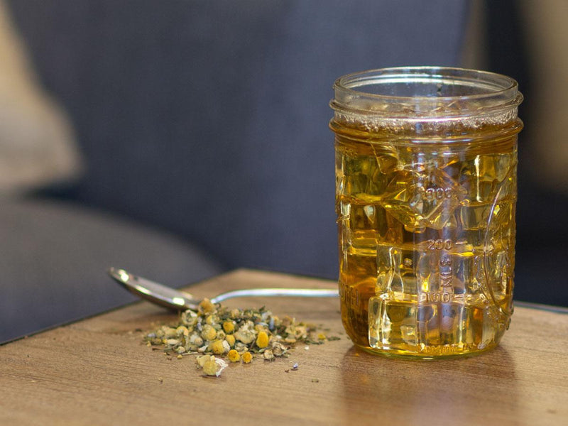 Image of Relaxing Mint Camomile Tea Brewed as Iced Tea from Hackberry Tea