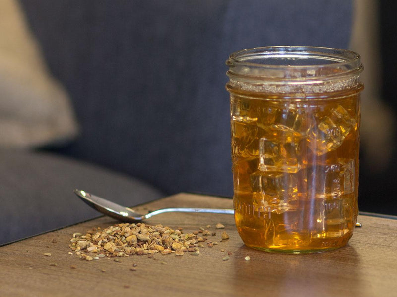 Image of Vanilla Cinnamon Spice Tea Brewed as Iced Tea from Hackberry Tea