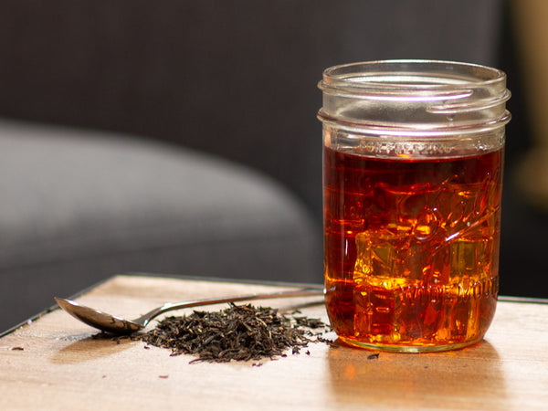 Image of Darjeeling Black Organic Tea Brewed as Iced Tea from Hackberry Tea