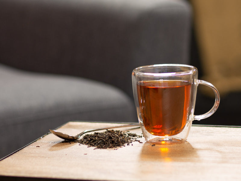 Image of Darjeeling Black Organic Tea Brewed as Hot Tea from Hackberry Tea