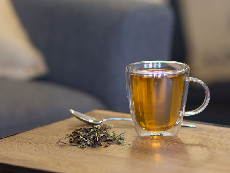 Image of White Coconut Creme Tea Brewed as Hot Tea from Hackberry Tea
