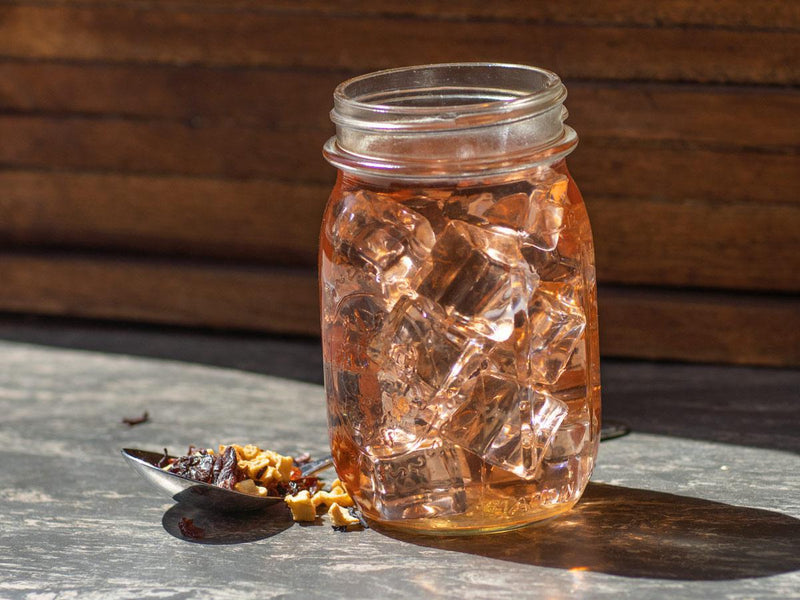 Image of Sweet Cherry Pie Tea Brewed as Iced Tea from Hackberry Tea