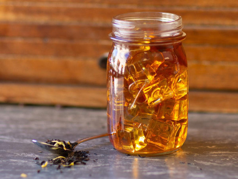 Image of Citrus Fresh Oolong Tea Brewed as Iced Tea from Hackberry Tea