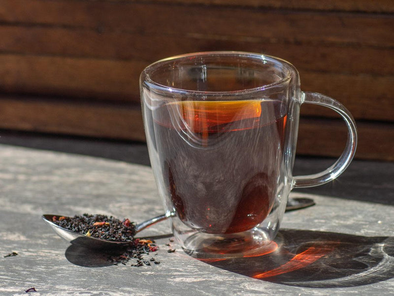 Image of Cherry Black Tea Brewed as Hot Tea from Hackberry Tea