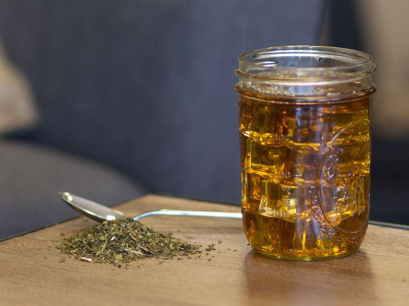 Image of Peppermint Tea Brewed as Iced Tea from Hackberry Tea