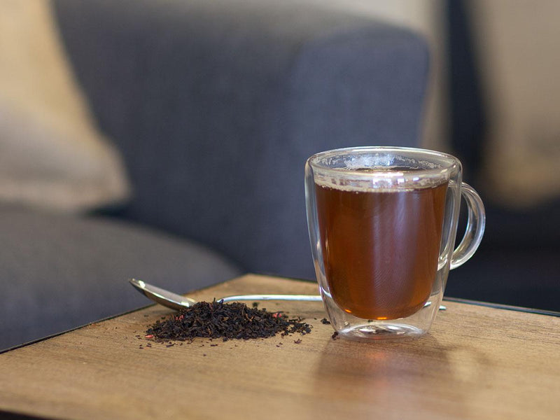 Image of Raspberry Black Tea Brewed as Hot Tea from Hackberry Tea