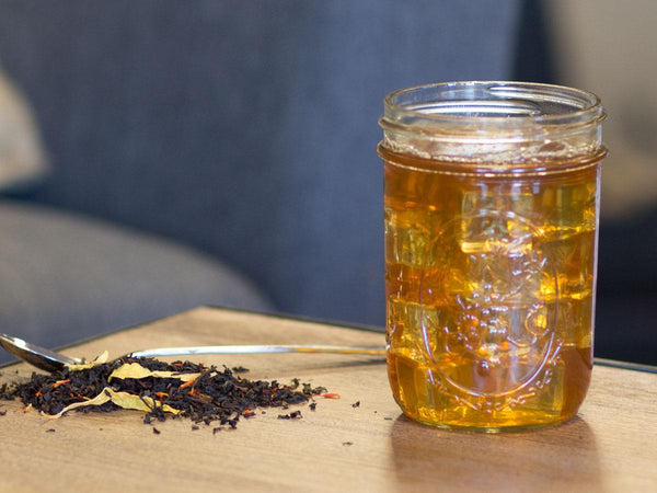 Image of Apricot Sunflower Tea Brewed as Iced Tea from Hackberry Tea