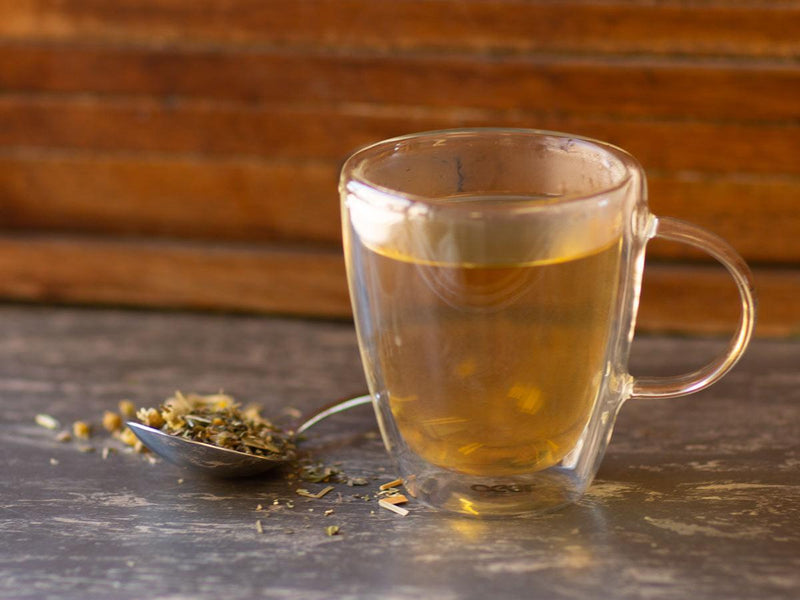 Image of Restful Night's Tonic Tea Brewed as Hot Tea from Hackberry Tea