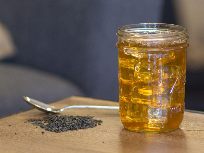 Image of Gunpowder Organic Tea Brewed as Iced Tea from Hackberry Tea