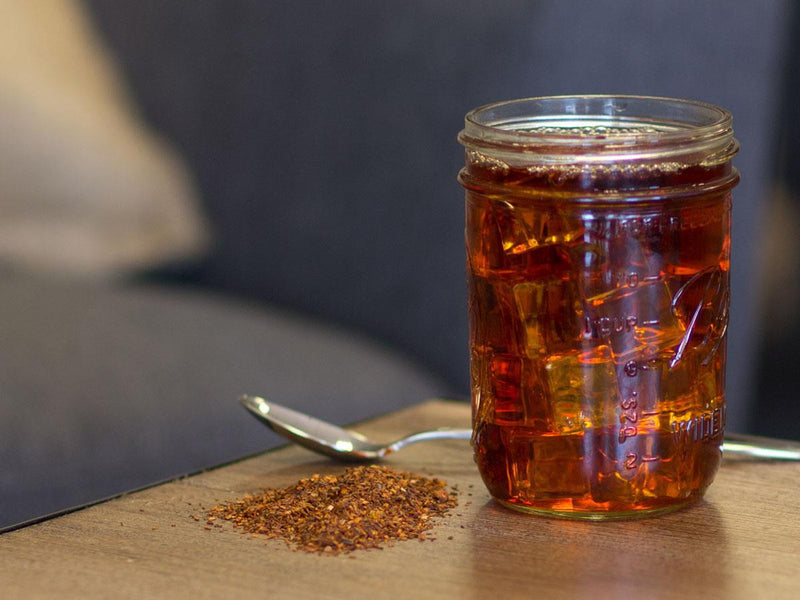 Image of Organic Citrus Rooibos Tea Brewed as Iced Tea from Hackberry Tea