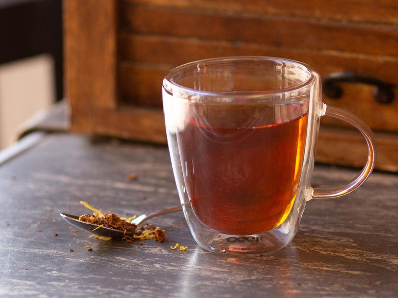 Image of Ultimate Turtle Dessert Rooibos Tea Brewed as Hot Tea from Hackberry Tea