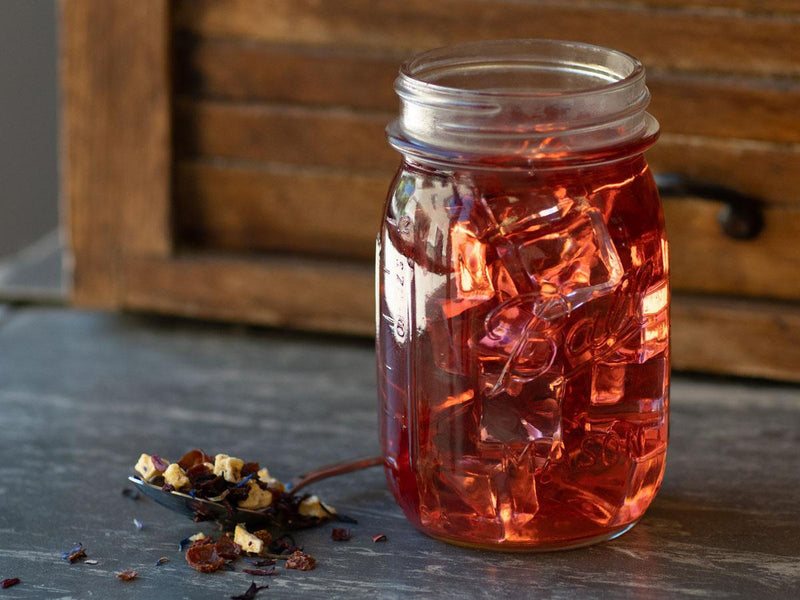 Image of Mixed Berry Crème Tea Brewed as Iced Tea from Hackberry Tea