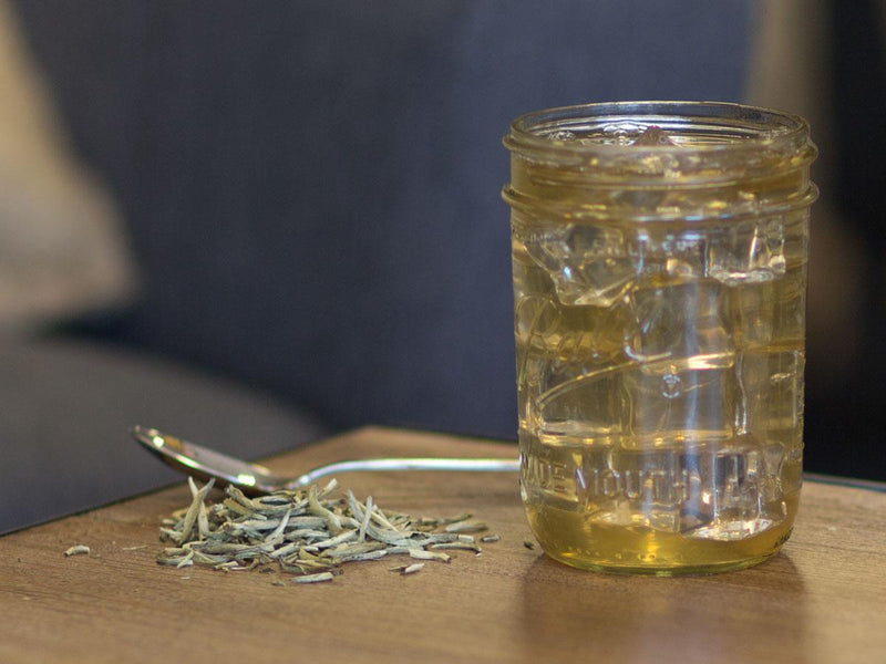 Image of Silver Needle Single Origin Organic Tea Brewed as Iced Tea from Hackberry Tea