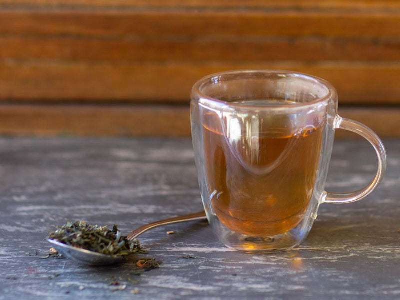 Image of Raspberry Dreamy Green Tea Brewed as Hot Tea from Hackberry Tea