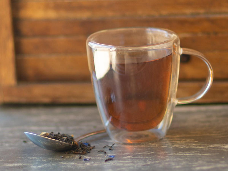 Image of Chocolate Orange Pu-Erh Tea Brewed as Hot Tea from Hackberry Tea