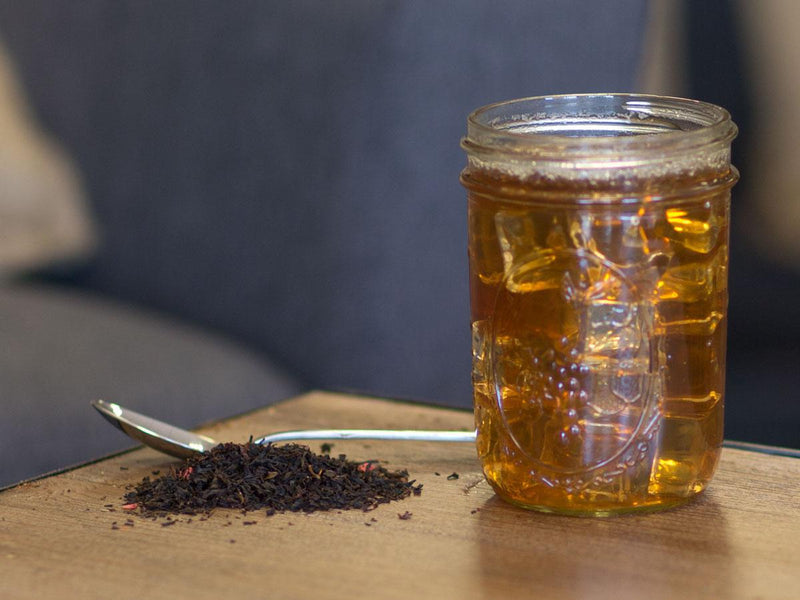 Image of Raspberry Black Tea Brewed as Iced Tea from Hackberry Tea