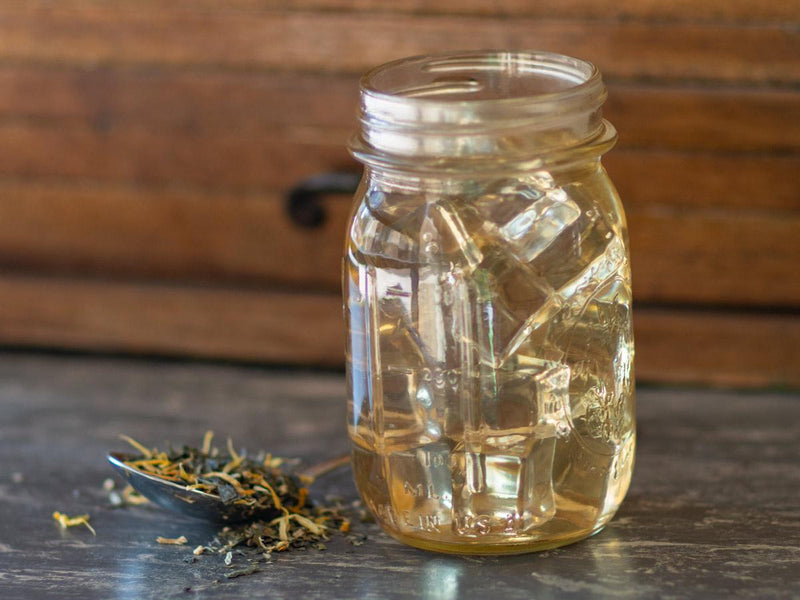 Image of Get Well Now Green Tea Brewed as Iced Tea from Hackberry Tea