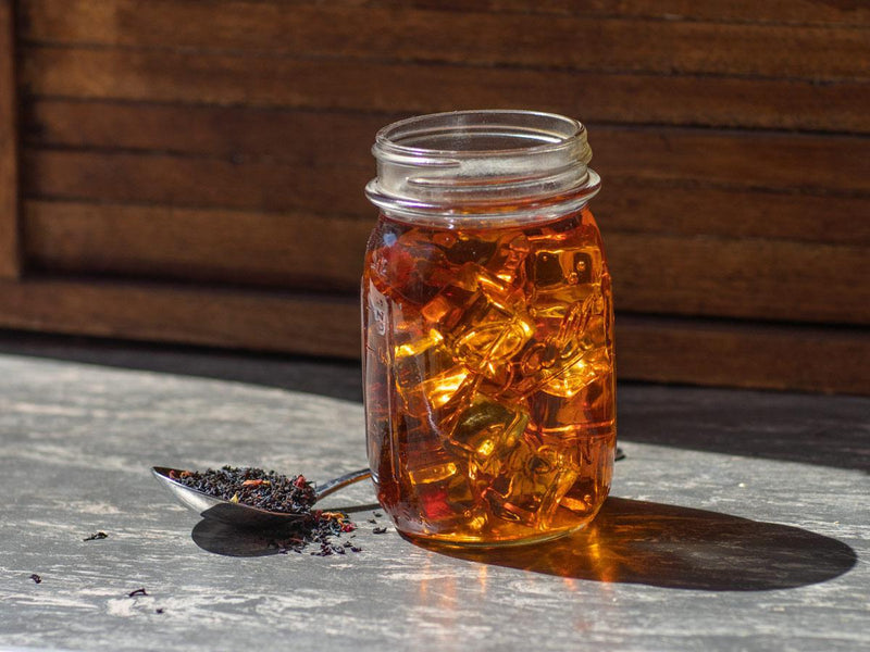 Image of Cherry Black Tea Brewed as Iced Tea from Hackberry Tea