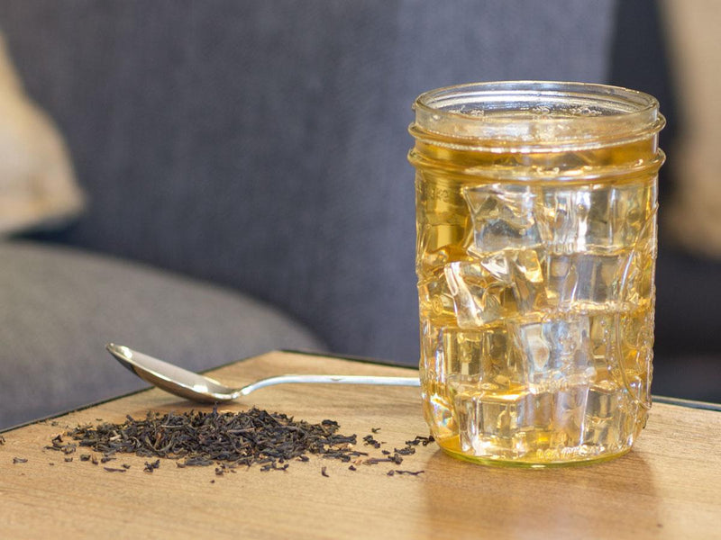 Image of English Breakfast Tea Brewed as Iced Tea from Hackberry Tea