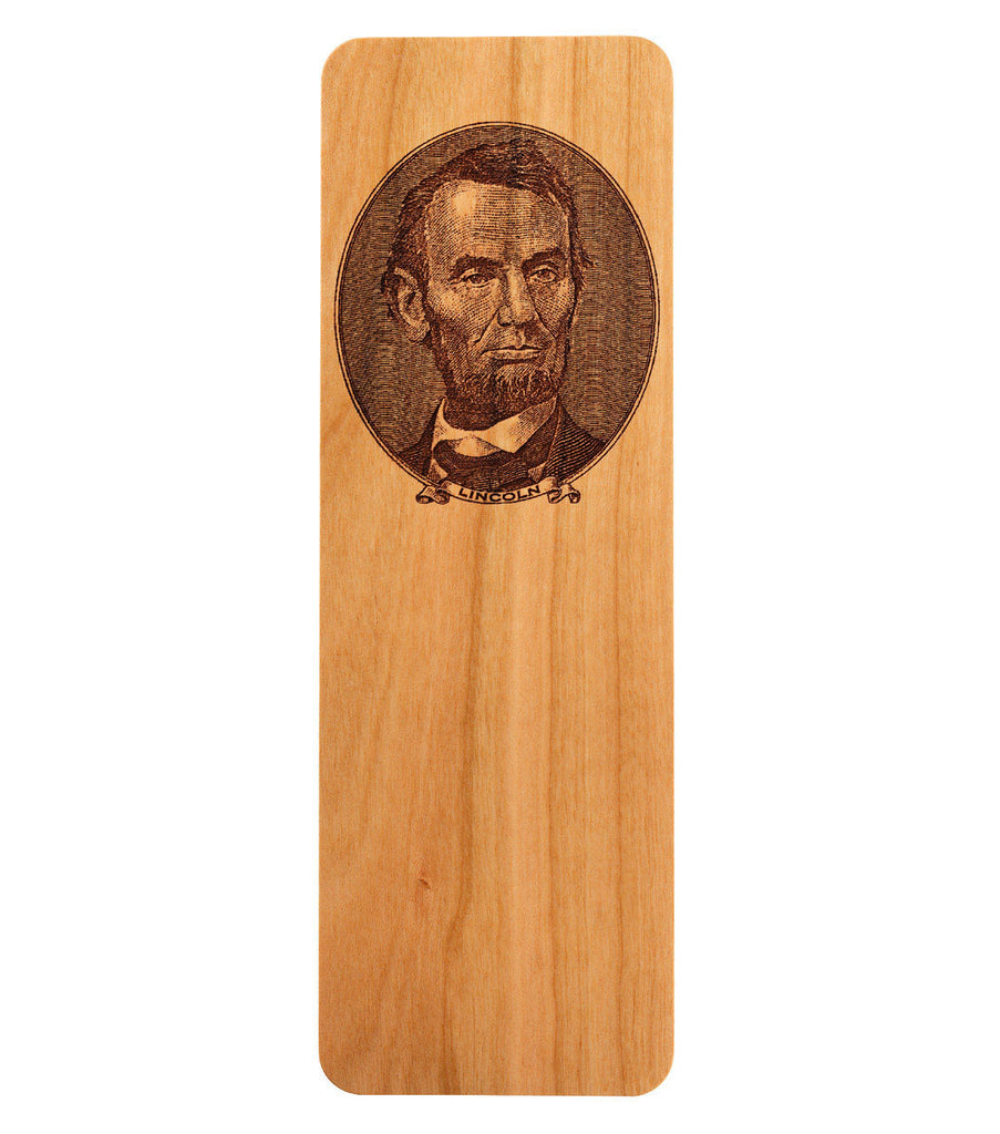 bookmark featuring a portrait of abraham lincoln