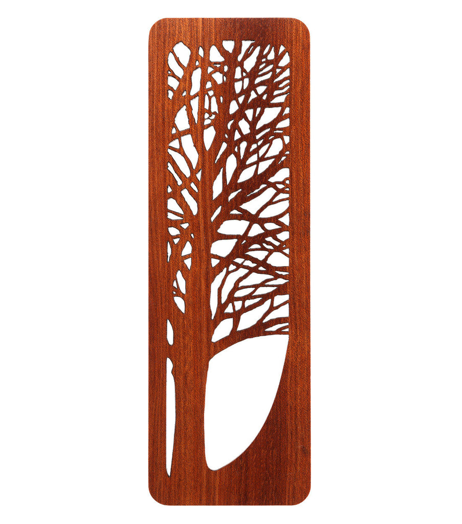 tree bookmark made from bloodwood
