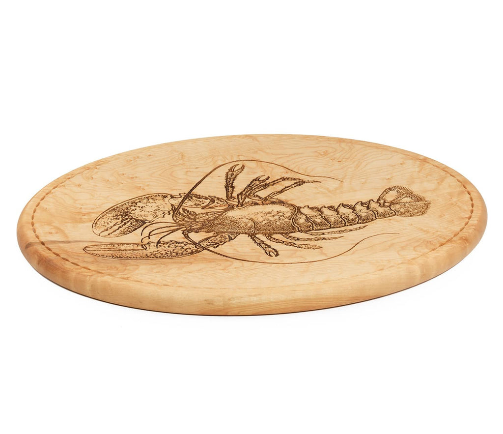 Lobster Carving Board Side View