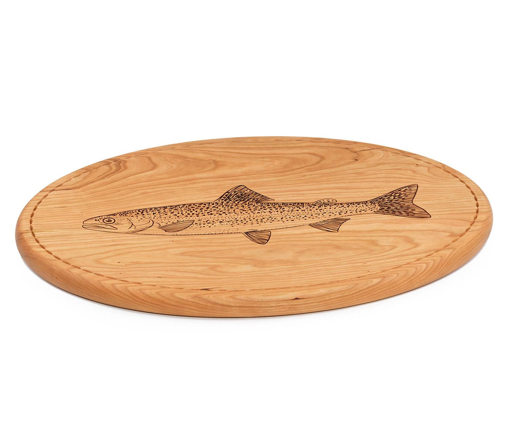 Trout Carving Board Side View