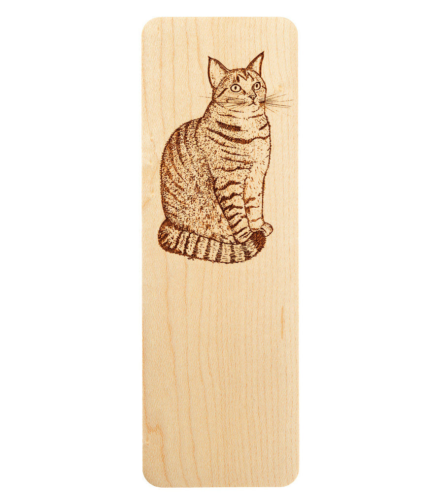 engraved cat bookmark