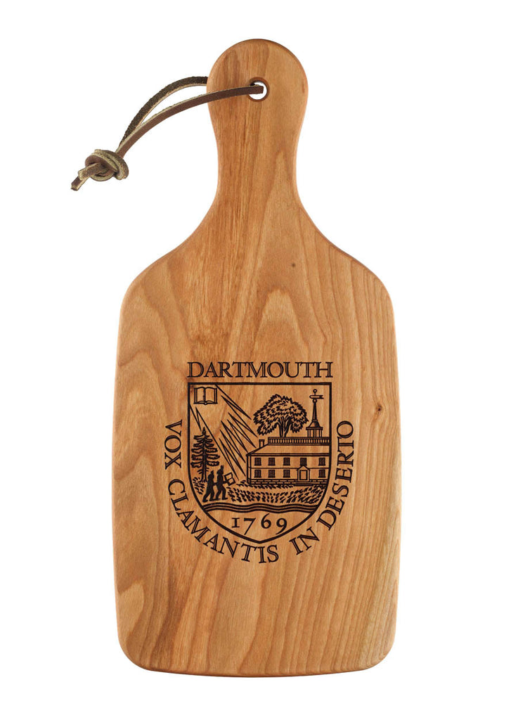 cutting board engraved with dartmouth shield