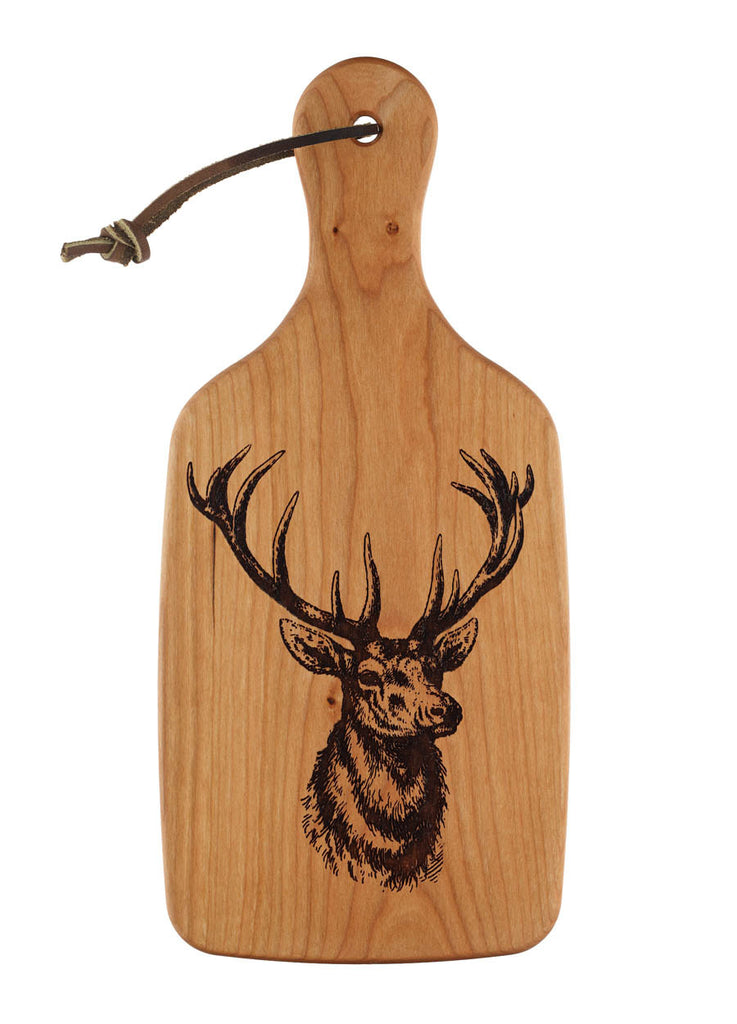 engraved design of a deer