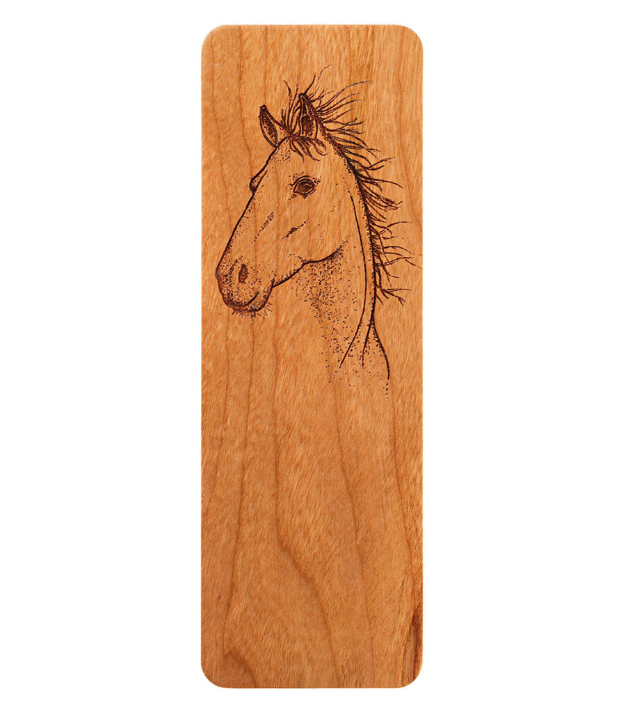 horse bookmark in cherry