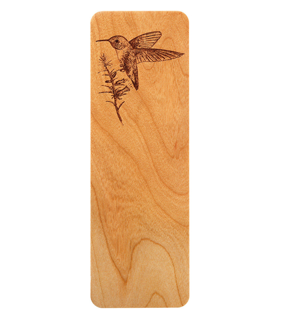bookmark with broad-tailed hummingbird
