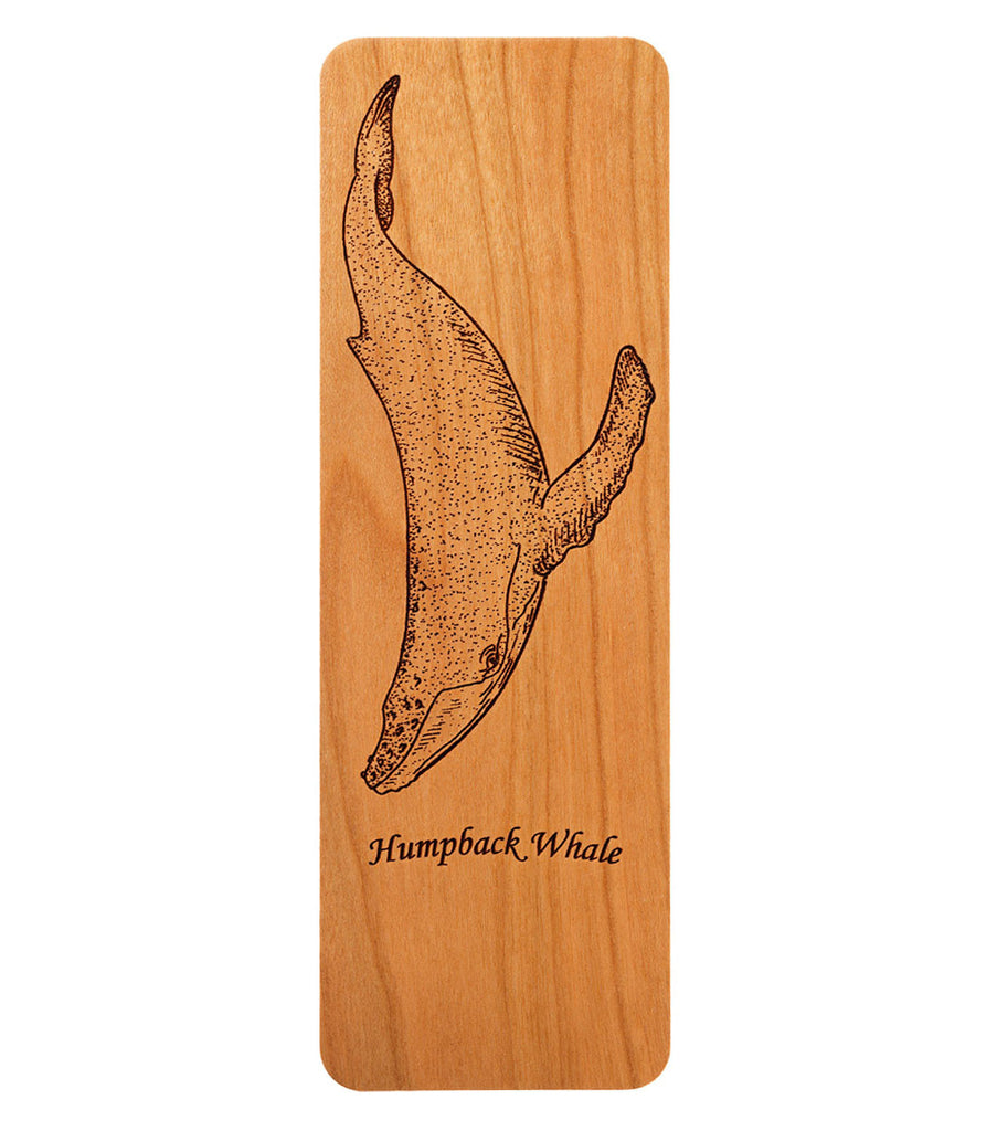 bookmark with humpback whale