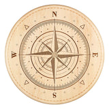 Compass Rose Lazy Susan