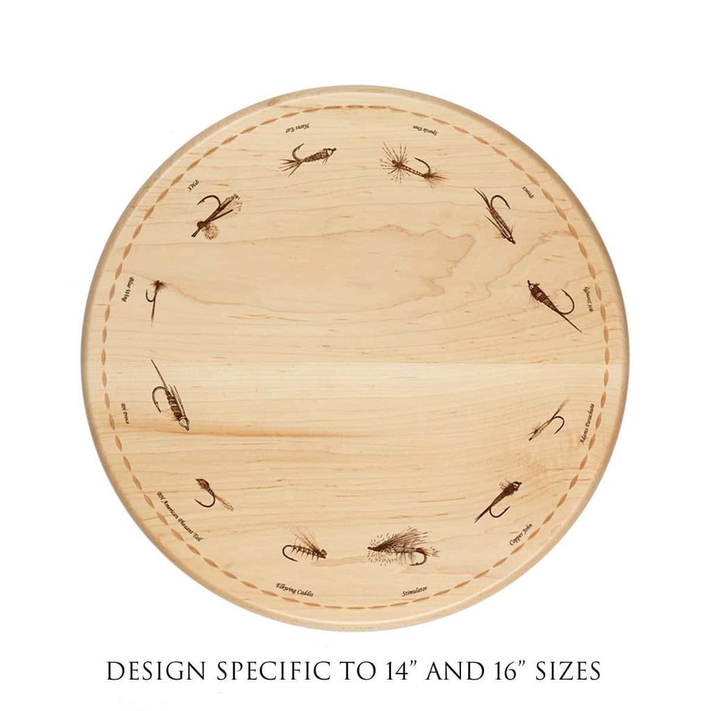 Trout Fly Lazy Susan Smaller Size