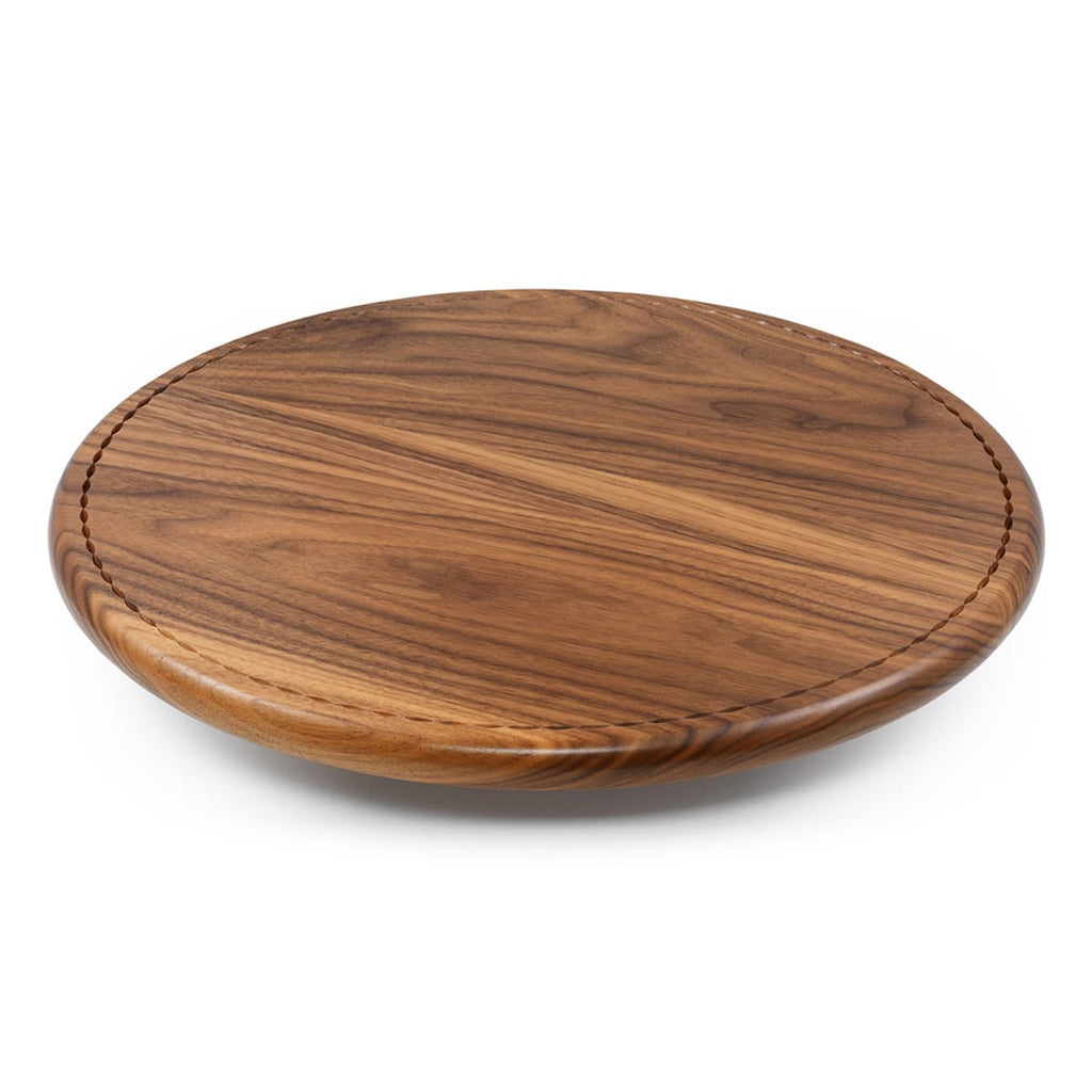 Walnut Lazy Susan Side View
