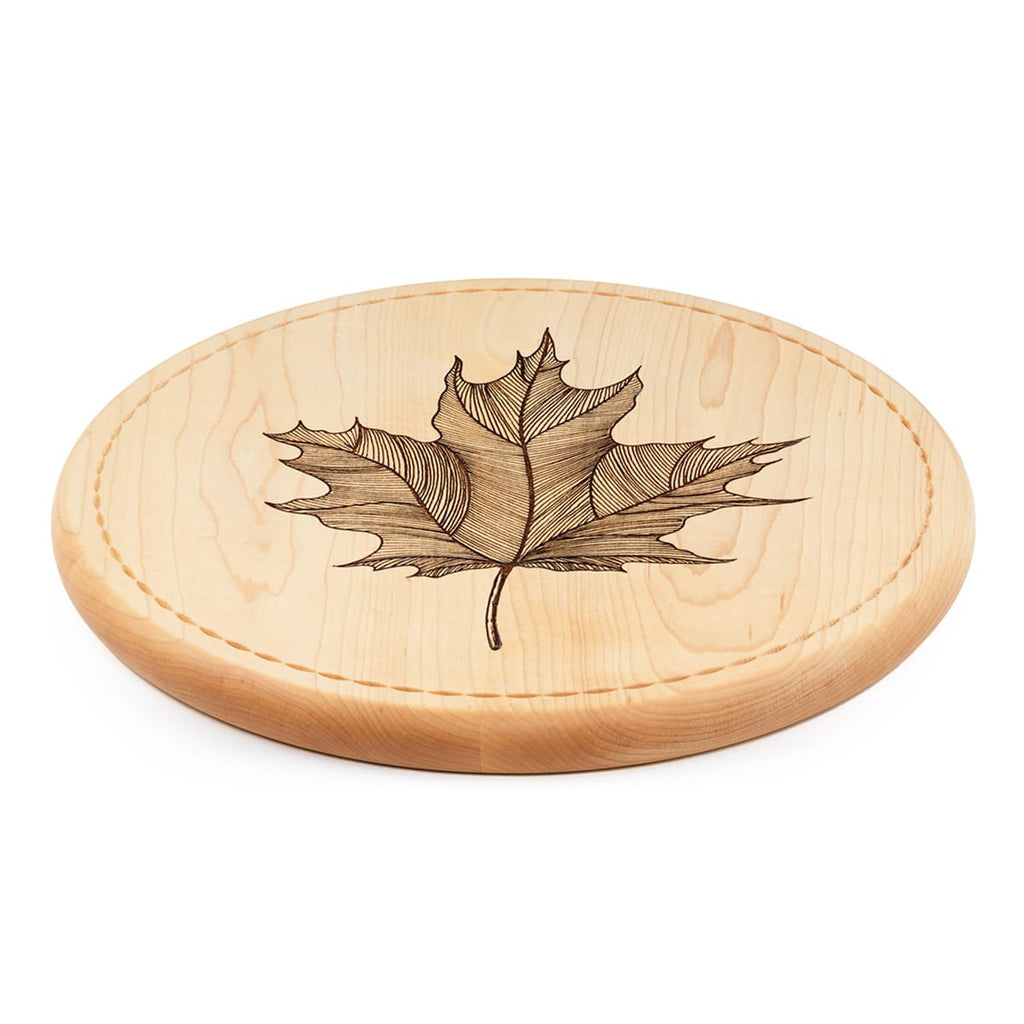 Maple Leaf Bread Board Side View