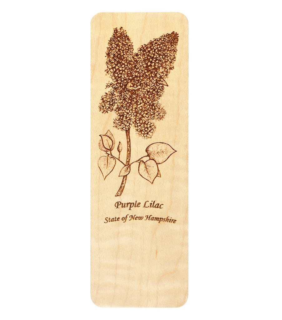 New Hampshire Purple Lilac Bookmark